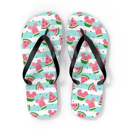Summer Melon Flip Flops - Blue