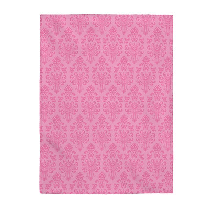 Happy Haunts Plush Blanket  - Pink