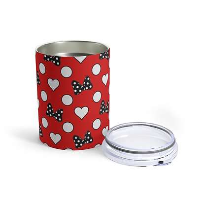 Rock Your Dots 10oz Tumbler - Red