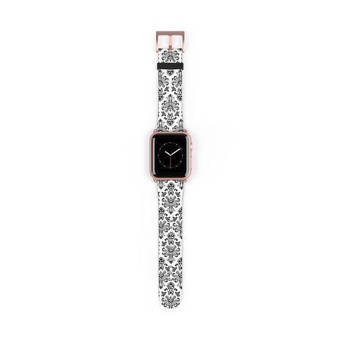 Happy Haunts Watch Band - White
