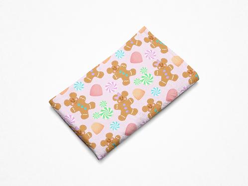 Gingerbread Plush Blanket - Pink