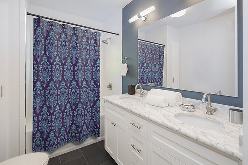 Happy Haunts Shower Curtains - Purple