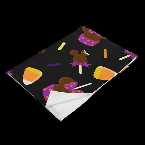 Trick or Treats Plush Blanket - Black