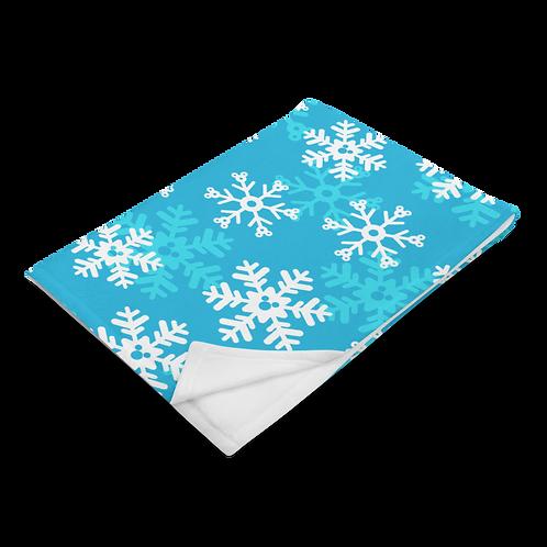 Snoap Flakes Plush Blanket - Blue