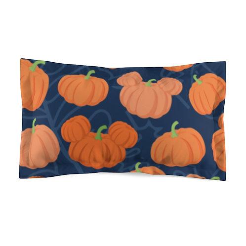 Pumpkin Patch Pillow Sham - Navy