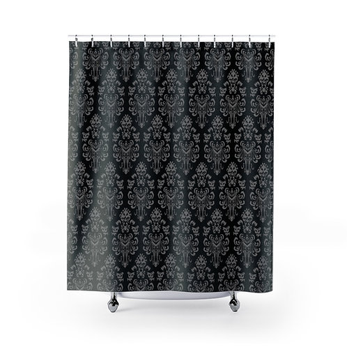 Happy Haunts Shower Curtains - Black