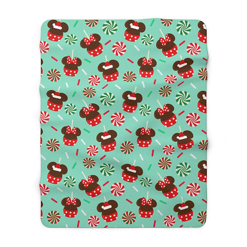 Christmas Candy Sherpa Fleece - Green