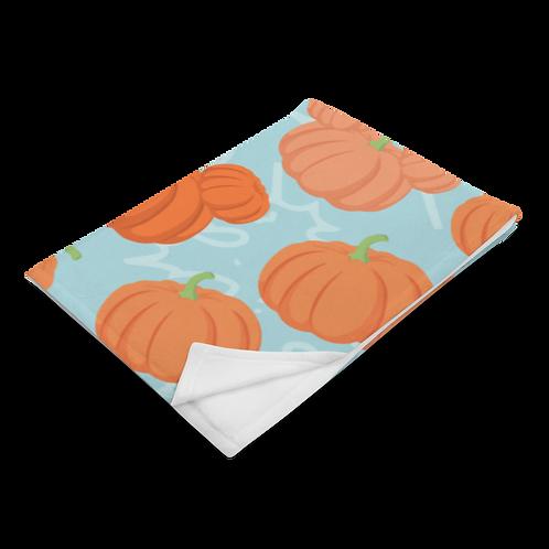 Pumpkin Patch Plush Blanket - Teal