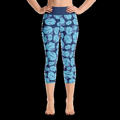 Ohana Yoga Capris - Blue