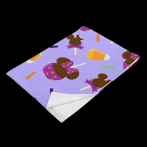 Trick or Treats Plush Blanket - Purple
