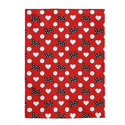 Rock Your Dots Plush Blanket  - Red