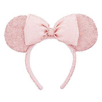 Millenial Pink Minnie Ear Sequined Headband