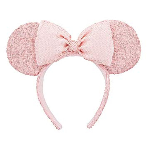 Millenial Pink Minnie Ear Sequined Headband