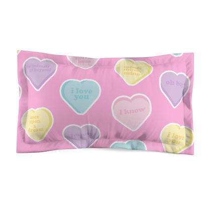 Candy Hearts Pillow Sham