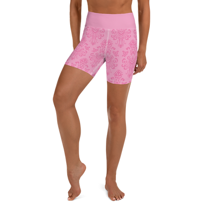 Happy Haunts Yoga Shorts - Pink