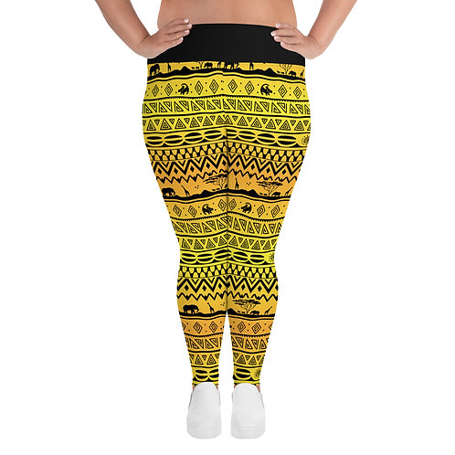 Asante Sana Plus Size Leggings - Sunrise