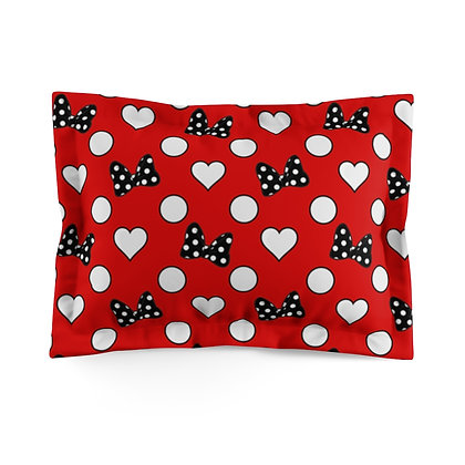 Rock Your Dots Pillow Sham  - Red