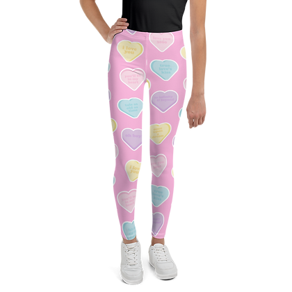 Candy Hearts Youth Leggings