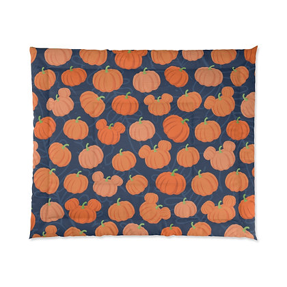 Pumpkin Patch Comforter - Navy