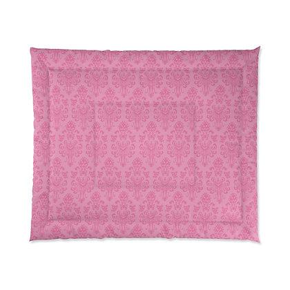Happy Haunts Comforter - Pink