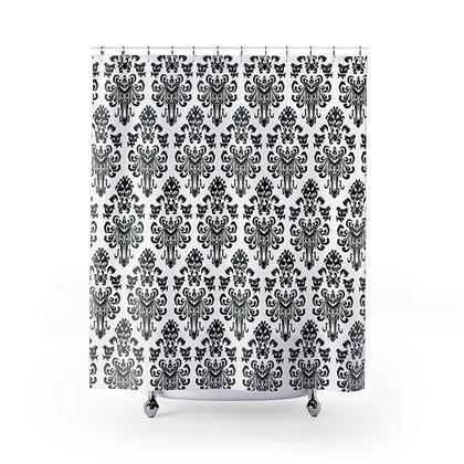 Happy Haunts Shower Curtains - White