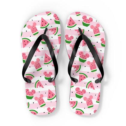 Summer Melon Flip Flops - Pink