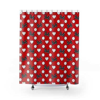 Rock Your Dots Shower Curtains - Red