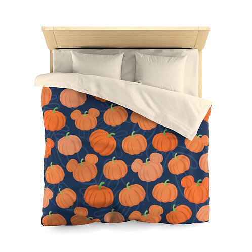 Pumpkin Patch Duvet Cover - Navy