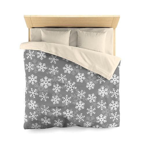 Snoap Flakes Duvet Cover - Gray
