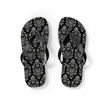 Happy Haunts Flip Flops - Black