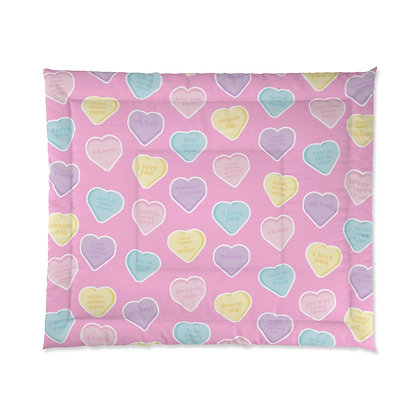 Candy Hearts Comforter
