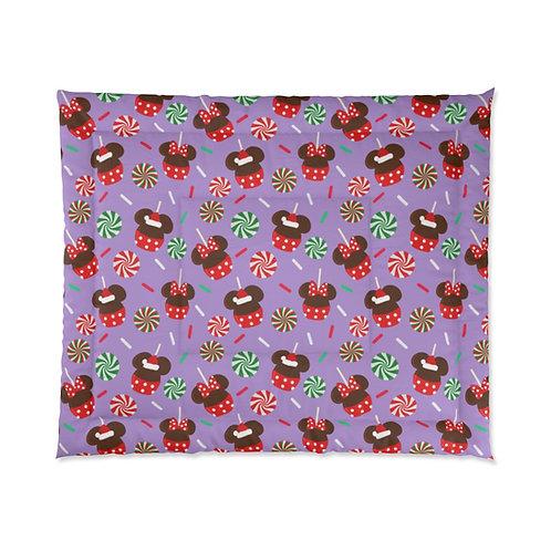 Christmas Candy Comforter - Purple