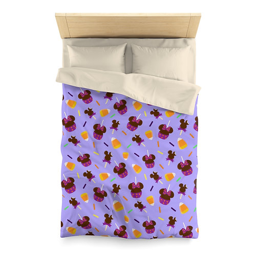 Trick or Treats Duvet Cover - Purple