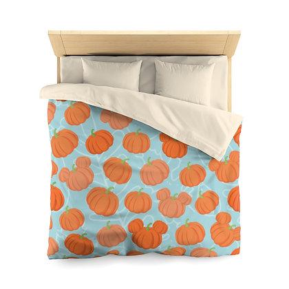 Pumpkin Patch Duvet Cover - Teal