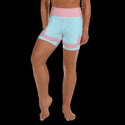 Pink Bow Yoga Shorts
