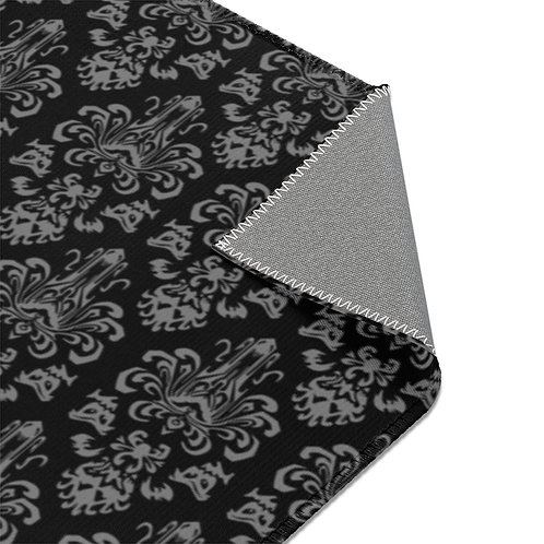 Happy Haunts Area Rug - Black