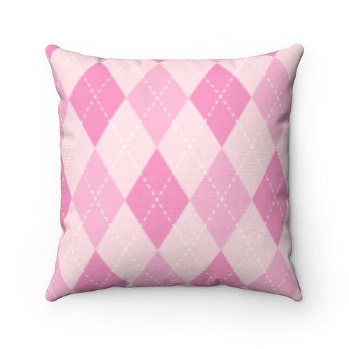 Awareness Argyle Pillow Case