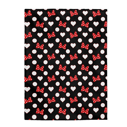 Rock Your Dots Plush Blanket  - Black