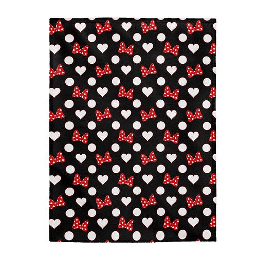 Rock Your Dots Plush Blanket  - Black