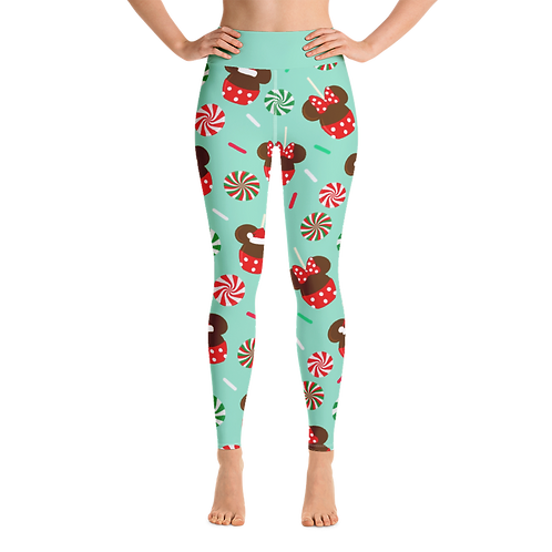 Christmas Candy Women's Leggings - Green