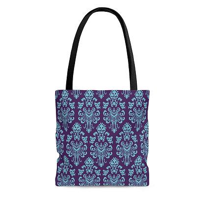 Happy Haunts Tote Bag - Purple