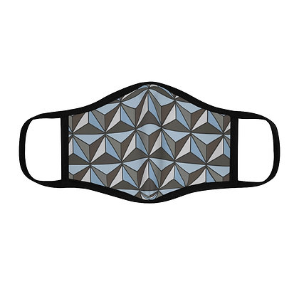 Imagination Fitted Face Mask - Silver