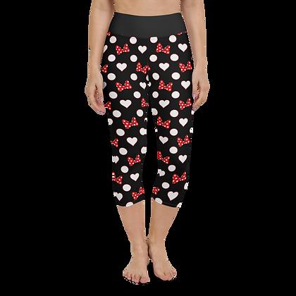 Rock Your Dots Yoga Capris - Black