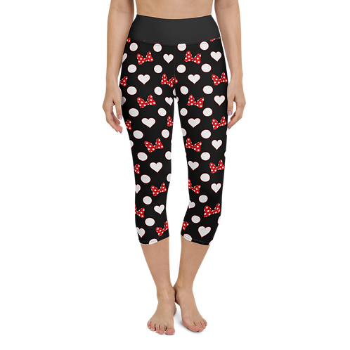 Rock Your Dots Yoga Capris - Black