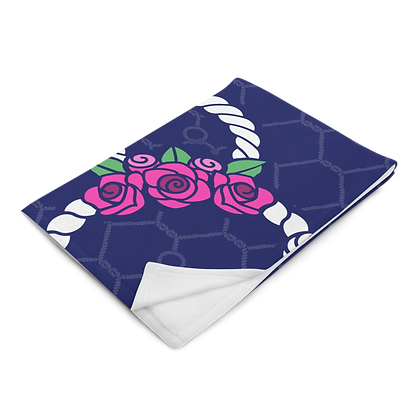 Seas The Day Floral Plush Blanket