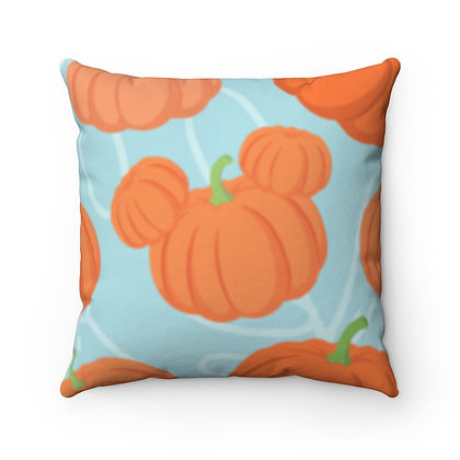 Pumpkin Patch Pillow Case - Teal