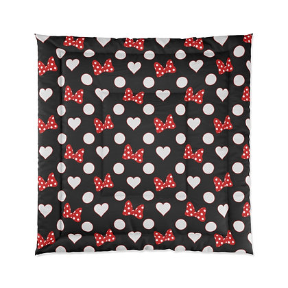Rock Your Dots Comforter  - Black