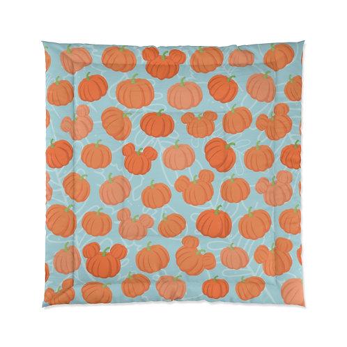 Pumpkin Patch Comforter - Teal
