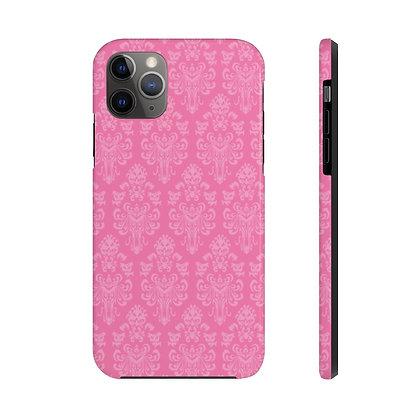 Happy Haunts Tough iPhone Case - Dark Pink