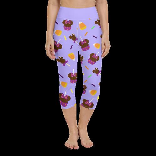 Trick or Treats Yoga Capris - Purple